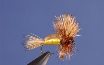 Dry Fly: Yellow Humpy