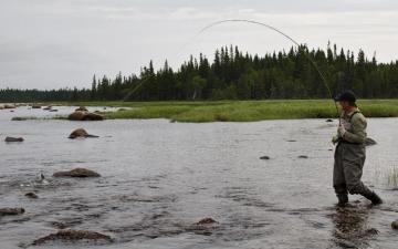 Fishing at Salmon River